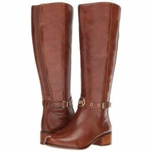 New Michael Kors Leather Heather Caramel Boots